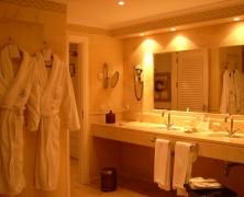 Sammensæt et moderne, nyt badeværelse